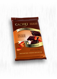 CACHET 300G DARK CHOCOLATE WITH ALMONDS