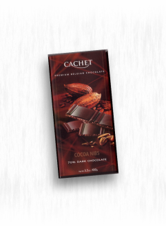 CACHET SIGNATURE COCOA NIBS DARK CHOCOLATE