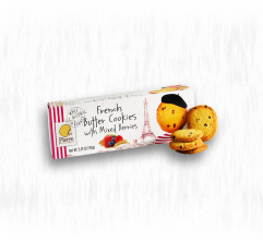 PIERRE BISCUITERIE FRENCH BUTTER COOKIES WITH MIXED BERRIES