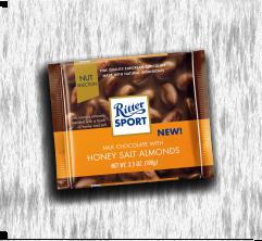 RITTER SPORT CHOCOLATE HONEY SALT ALMONDS