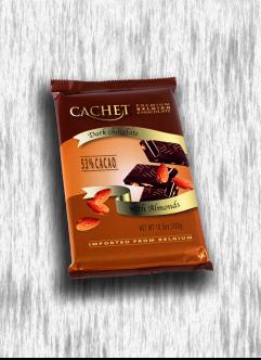 CACHET 300G DARK CHOCOLATE WITH ALMONDS
