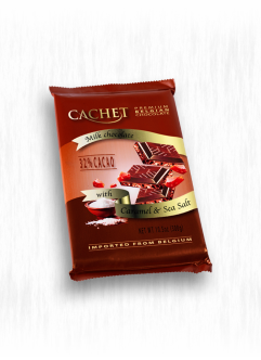 CACHET 300G MILK CHOCOLATE WITH CARAMEL & SEA SALT