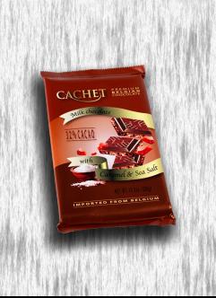 CACHET 300G MILK CHOCOLATE WITH CARAMEL & SEA SALT