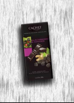 CACHET DARK CHOCOLATE WITH BLACKBERRY & GINGER