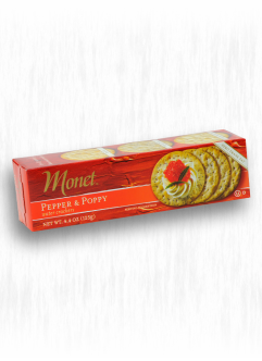 MONET PEPPER & POPPY WATER CRACKERS