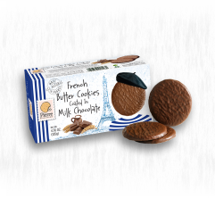 PIERRE BISCUITERIE MILK CHOCOLATE COVERED COOKIES