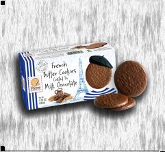 PIERRE BISCUITERIE MILK CHOCOLATE COVERED COOKIES