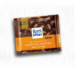RITTER SPORT CHOCOLATE HONEY SALT ALMONDS