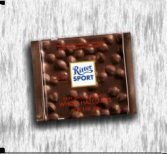 RITTER SPORT DARK CHOCOLATE WITH WHOLE HAZELNUTS